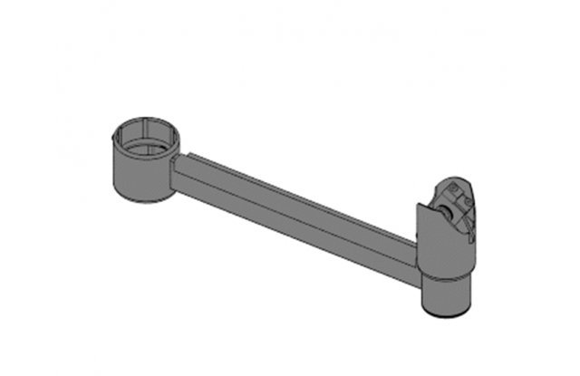 Arm for mounting pole, length 200 mm