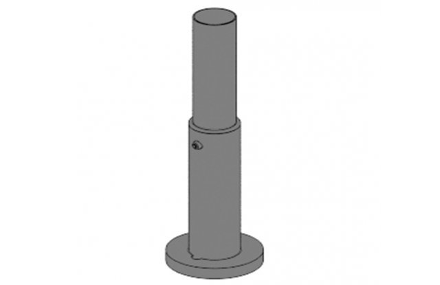 Telescopic pole stand, height 170-300 mm