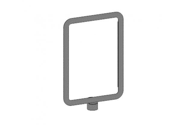 Vertical information frame, A4 size