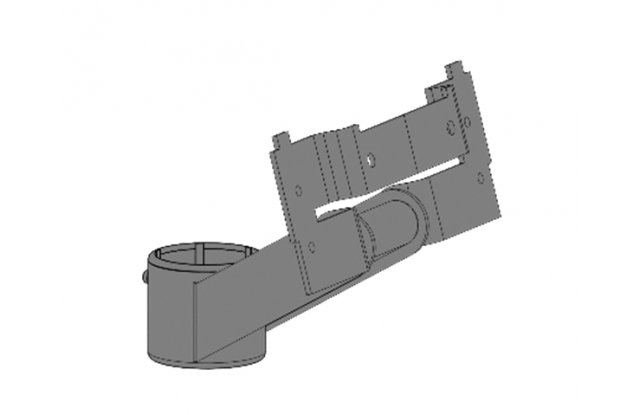 Compact mount for monitors