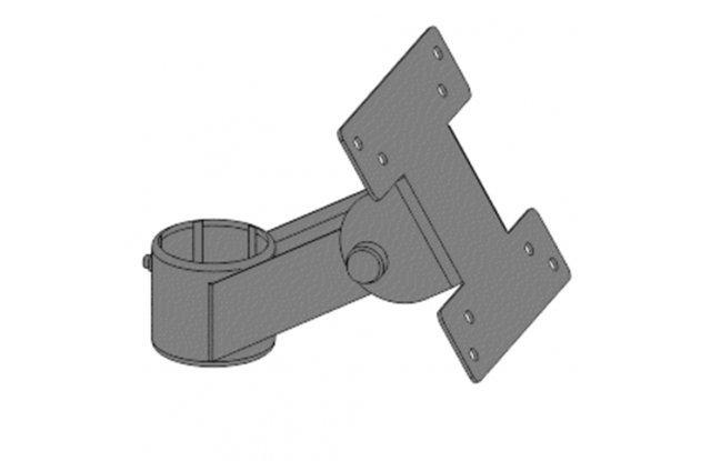 Compact VESA mount for monitors