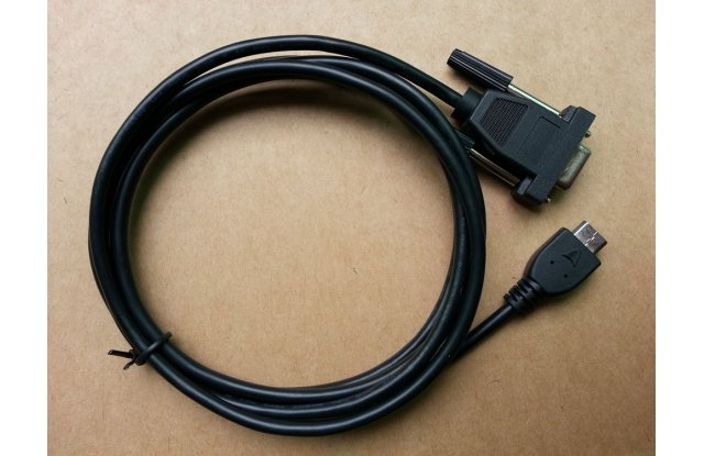 mini-HDMI-DB9F cable