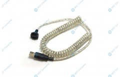 USB cable for VeriFone Vx820 twisted, transparent