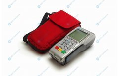 Universal carrying case for credit card terminals, Arctic Red
